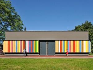 Barvita lesena fasada